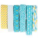 Coupon de biais Crafty cotton - Losanges sur fond bleu pétrole - 20 mm x 3 m - Photo n°3