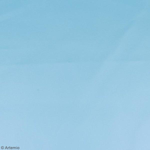 Coupon tissu Simili cuir - Bleu clair - 50 x 68 cm - Photo n°2
