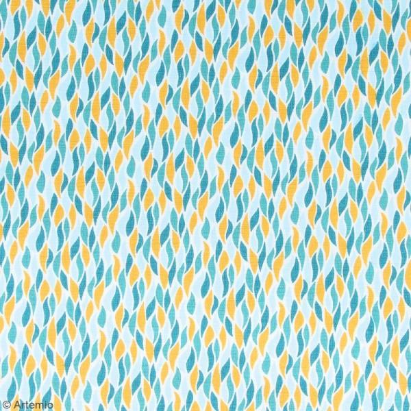 Coupon de tissu coton Crafty cotton - Flammes géométriques - Fond Blanc - 45 x 55 cm - Photo n°2