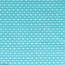 Coupon de tissu Toile cirée Crafty cotton - Losanges - Fond Bleu pétrole - 45 x 55 cm - Photo n°2