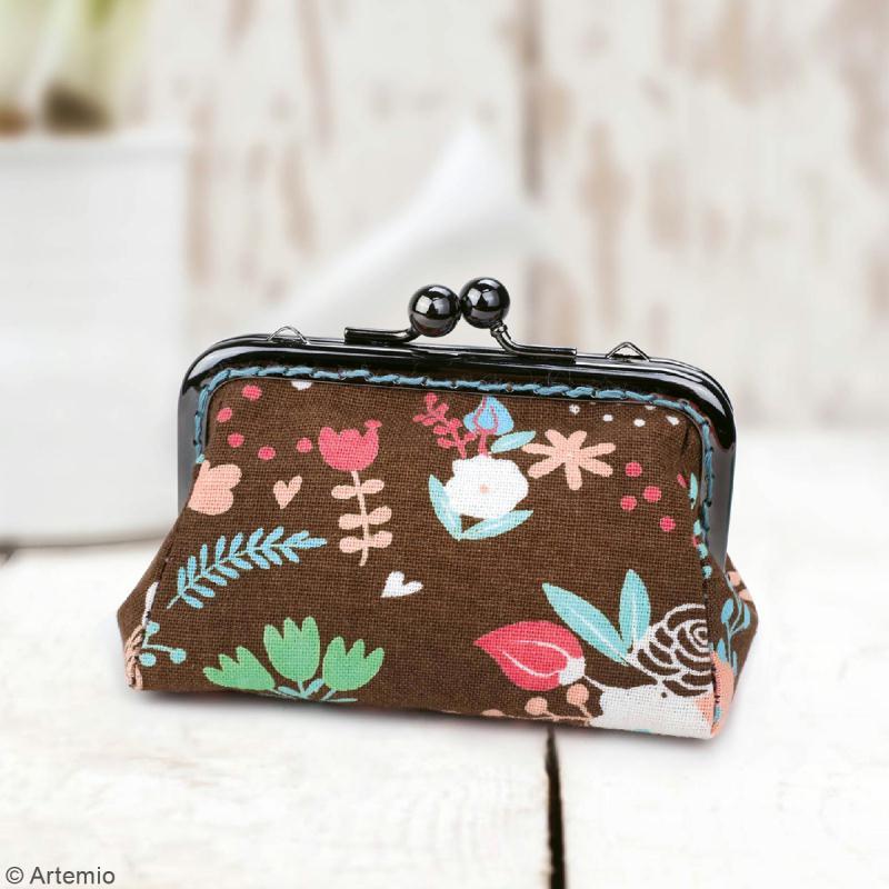 Kit porte-monnaie rectangulaire Crafty cotton - Fermoir et patron de couture - Photo n°3