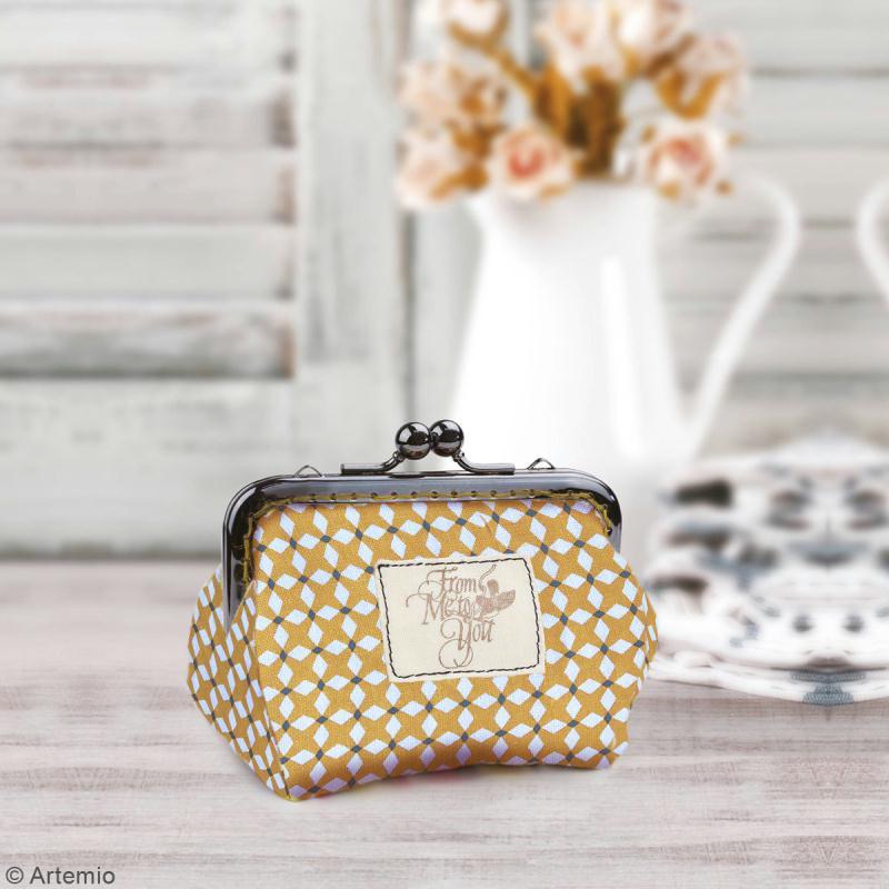 Kit porte-monnaie bourse Crafty cotton - Fermoir et patron de couture - Photo n°2