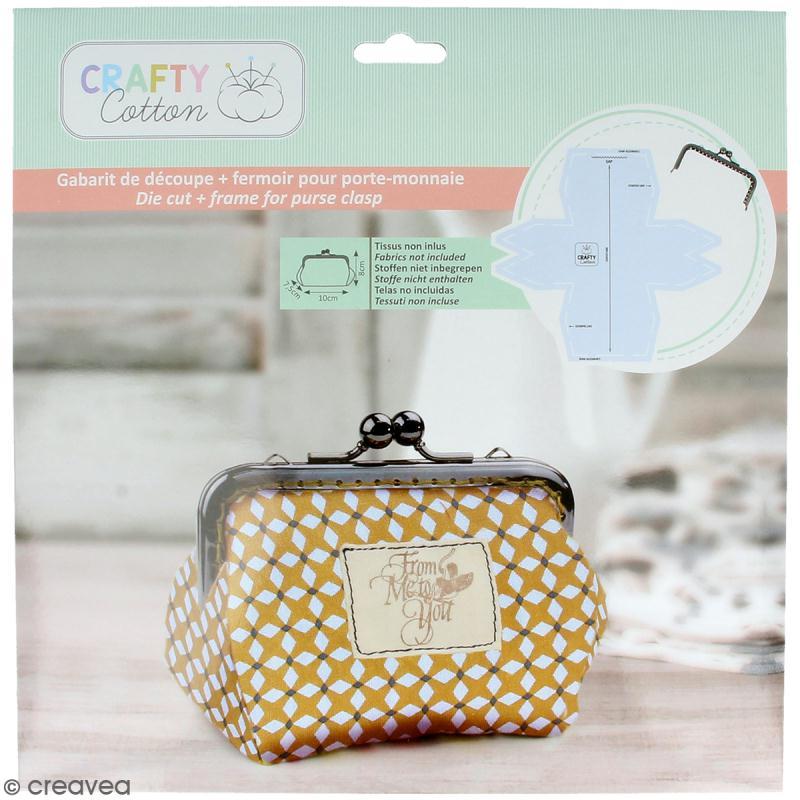 Kit porte-monnaie bourse Crafty cotton - Fermoir et patron de couture - Photo n°1