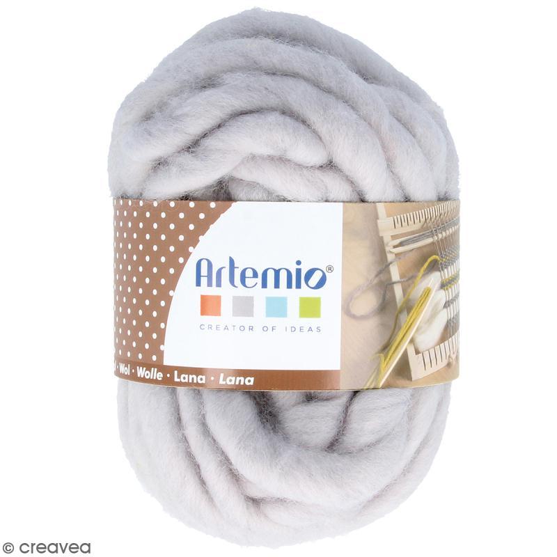 laine paisse artemio 70 g gris perle 10 m grosse laine creavea. Black Bedroom Furniture Sets. Home Design Ideas
