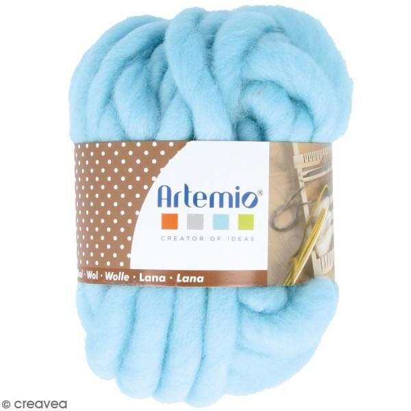 Laine épaisse Artemio 70 g - Bleu ciel - 10 m - Photo n°1