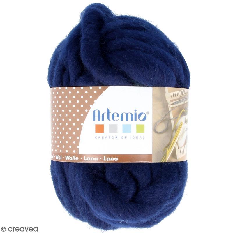 Laine épaisse Artemio 70 g - Bleu nuit - 10 m - Photo n°1