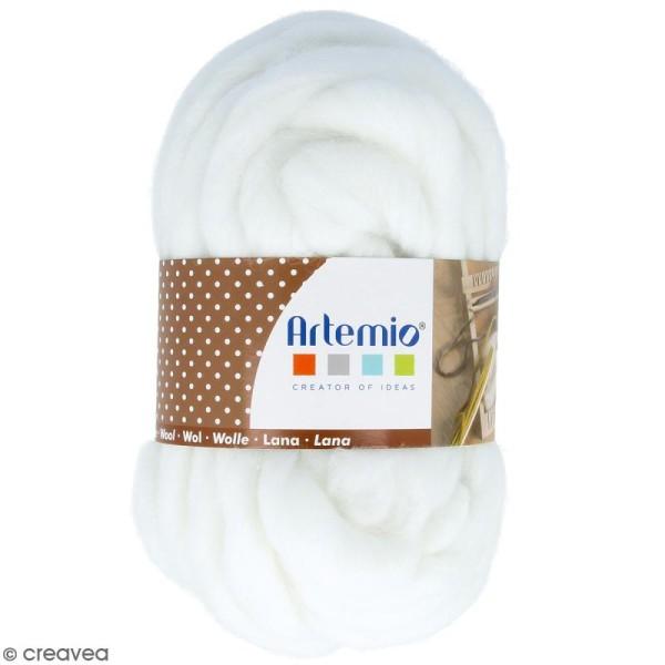 Laine épaisse Artemio 70 g - Blanc - 10 m - Photo n°1
