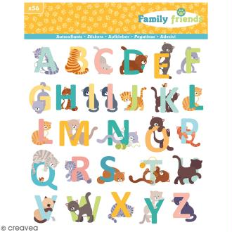 Stickers Alphabet Family friends Artemio - Chats - 56 pcs