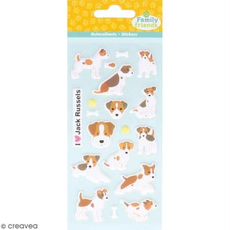 Stickers Puffies Family friends - Jack russel - 19 autocollants