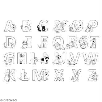 Tampon clear Artemio Family friends - Alphabet Chiens - 26 pcs