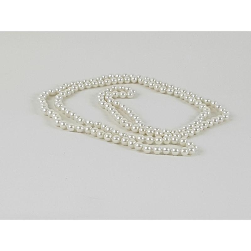 1 collier sautoir en perles de verrre peintes en ivoire for Accessoire cuisine en ligne