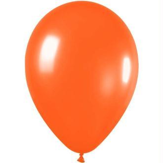 100 Ballons de baudruche standard mandarine metal 29 cm Ø