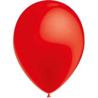 100 Ballons de Baudruche Métal Rouge 27 cm Ø
