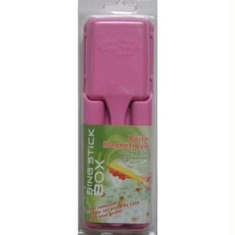 Boîte magnétique rose +100 pions rose ramasse pions pour loto