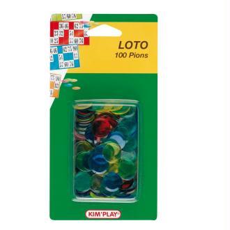 Sachet de 100 pions de marquage multicolore pour loto