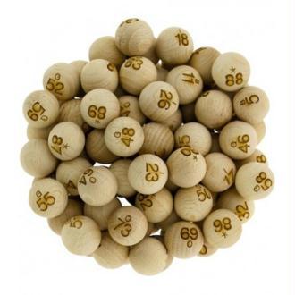 90 Boules en bois numérotées 22 mm