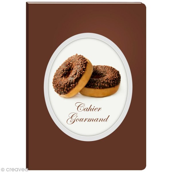Cahier gourmand fantaisie - Donuts A5 - 96 pages - Photo n°1