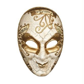 Masque façon Venise doré caractere décor craquelé