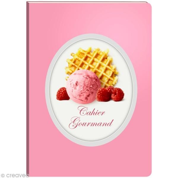 Cahier gourmand fantaisie - Glace gaufrette A5 - 96 pages - Photo n°1