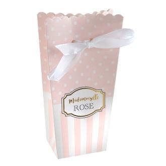 6 Ballotins Baby Shower rose