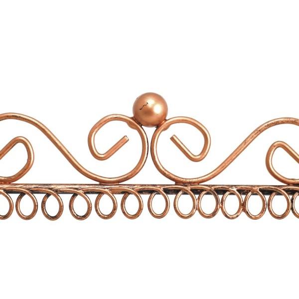Porte bijoux cadre porte boucle d'oreille (22 paires) Cuivre patiné - Photo n°3