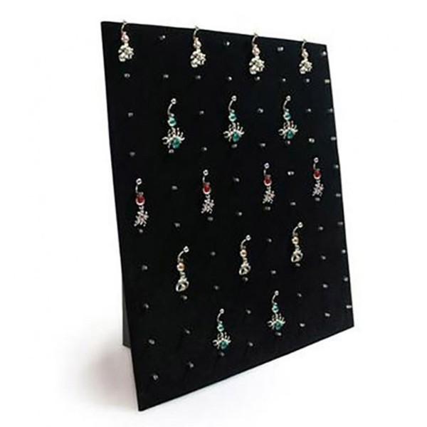Porte bijoux présentoir à bijoux pour piercings (80 pièces) Noir - Photo n°1