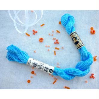 Coton perlé DMC n° 5 bleu azur - col 996 - 25 m