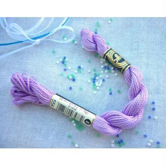 Coton perlé 5 DMC violet lilas coloris dmc 554