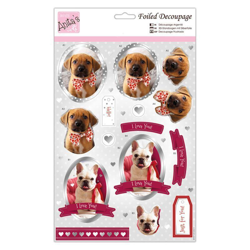 D coupage m tallis amour de chiots 21 x 30 cm kit for Amour de cuisine de soulef