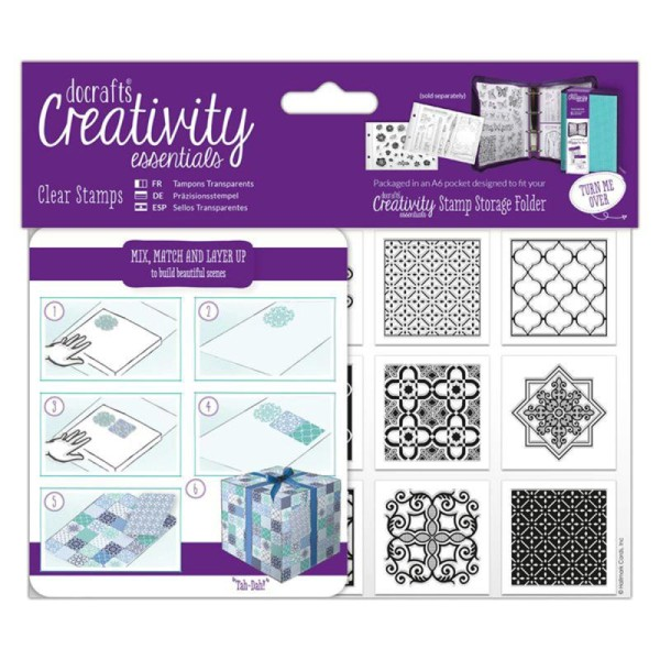Tampons clear Creativity Essentials - A6 - Carreaux Marocains - 12 pcs - Photo n°1