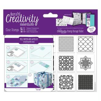 Tampons clear Creativity Essentials - A6 - Carreaux Marocains - 12 pcs