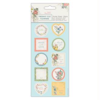 Autocollants en papier - Docrafts Freshly cut flowers - 20 pcs