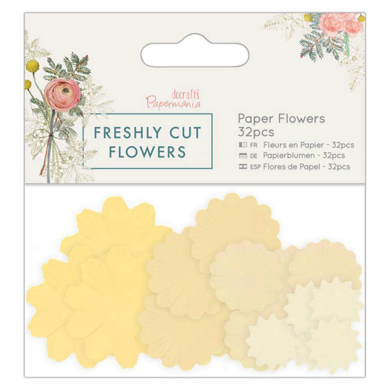 Assortiment fleurs en papier - Docrafts Freshly cut flowers - 32 pcs - Photo n°1