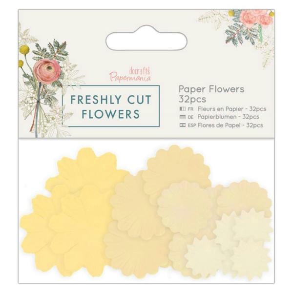 Assortiment fleurs en papier - Docrafts Freshly cut flowers - 32 pcs - Photo n°1