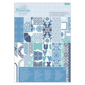 Kit complet scrapbooking Papermania - Collection capsule Moroccan Blue - 48 pcs
