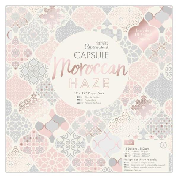 Papier scrapbooking Papermania - Collection capsule Moroccan Haze - 30,5 x 30,5 cm - 32 feuilles - Photo n°1