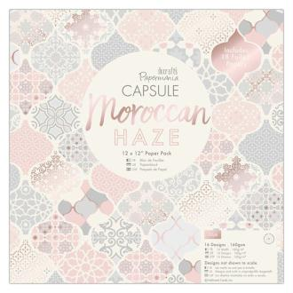 Papier scrapbooking Papermania - Collection capsule Moroccan Haze - 30,5 x 30,5 cm - 32 feuilles