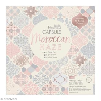 Papier scrapbooking Papermania - Collection capsule Moroccan Haze - 15 x 15 cm - 32 feuilles