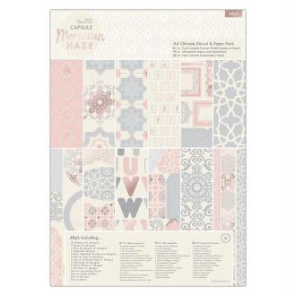 Kit complet scrapbooking Papermania - Collection capsule Moroccan Haze - 48 pcs