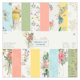 Papier scrapbooking Papermania - Collection Freshly cut flowers - 30,5 x 30,5 cm - 32 feuilles