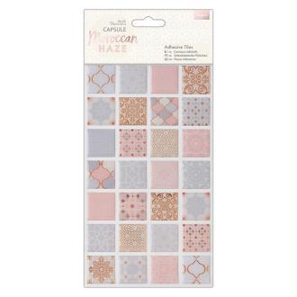 Mini carreaux de résine Papermania - Collection capsule Moroccan Haze - 2,5 x 2,5 - 56 pcs