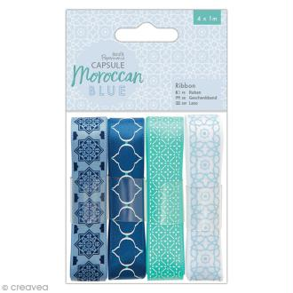 Ruban scrapbooking Papermania - Collection capsule Moroccan Blue - 4 x 1 m