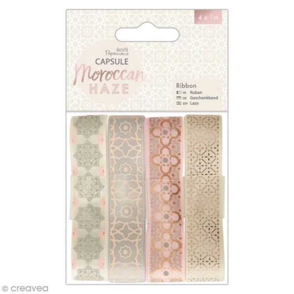 Ruban scrapbooking Papermania - Collection capsule Moroccan Haze - 4 x 1 m - Photo n°1