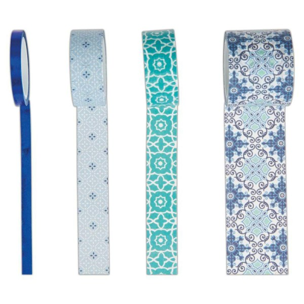 Assortiment Craft Tape Papermania - Collection capsule Moroccan Blue - 4 pcs x 5 m - Photo n°2