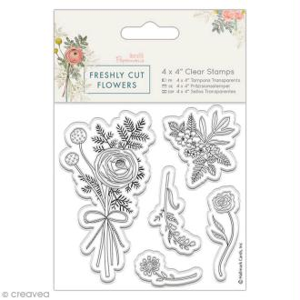 Tampon clear Docrafts Freshly cut flowers - Bouquet - 5 pcs