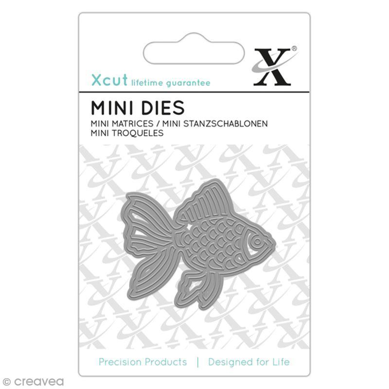 Mini matrice de coupe xcut poisson rouge 5 x 4 3 cm for Acheter poisson rouge reims