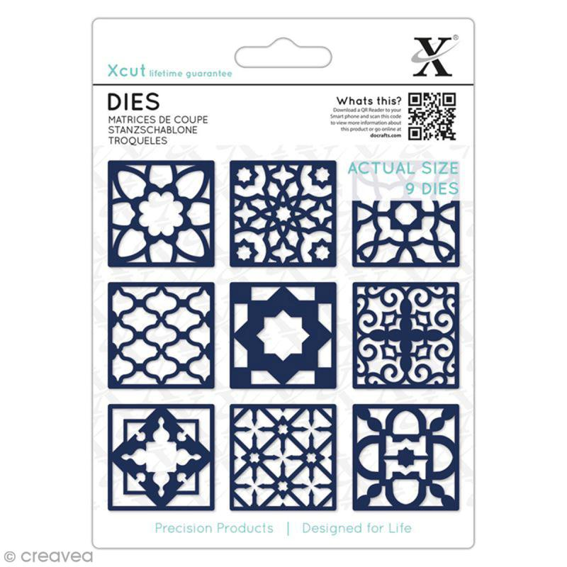 Matrice de coupe Xcut - Carreaux Marocains - 9 pcs - Photo n°1