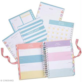 Planner spirale - Docrafts Noteworthy - Collection Pastel hues - 16,5 x 22,5 cm