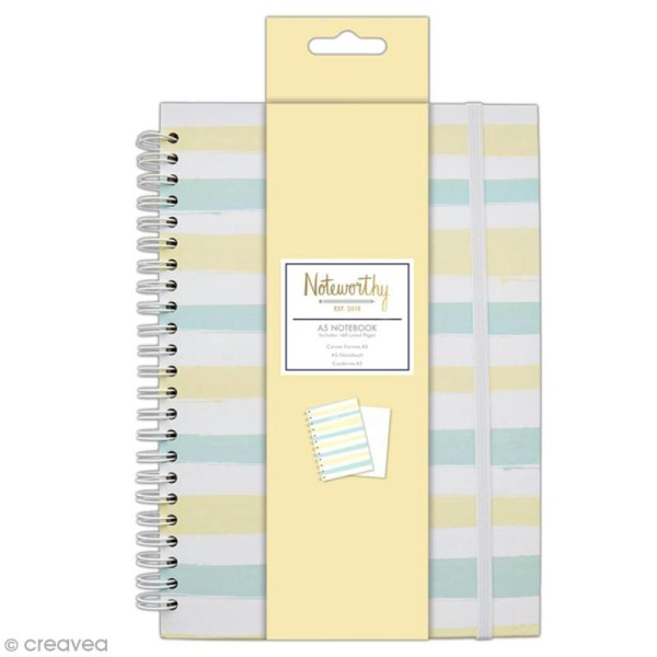 Carnet de notes à spirale A5 - Docrafts Noteworthy - Collection Pastel hues - Photo n°1