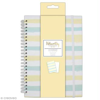Carnet de notes à spirale A5 - Docrafts Noteworthy - Collection Pastel hues